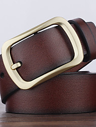 cheap -Men's Alloy Waist Belt,Brown Black Light Brown Solid Solid Retro