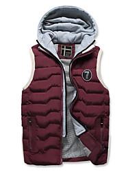 cheap -Men's Plus Size Sports Cotton Vest - Color Block, Patchwork