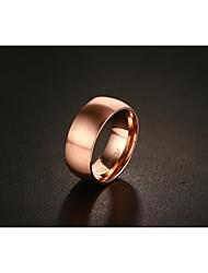 billige -mænds band ringe vintage elegante titanium stål rose forgyldte cirkel smykker til bryllupsfest