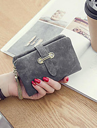 cheap -Women Bags PU Wallet Buttons Tassel for Casual All Season Red Light Gray Brown Navy Blue Army Green