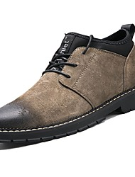 Men's Shoes PU Spring Fall Comfort Boots Booties/Ankle Boots For Casual Khaki Gray Black