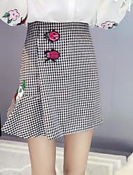 baratos -Feminino Assimétrico Saias,Saia & Vestido