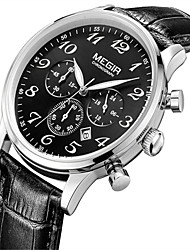 Недорогие -MEGIR Муж. Наручные часы Нарядные часы Модные часы Повседневные часы Кварцевый Календарь Натуральная кожа Группа На каждый день Cool
