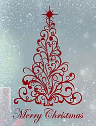 Недорогие -Рождество Наклейки Простые наклейки Декоративные наклейки на стены,Винил Украшение дома Наклейка на стену Стена Окно