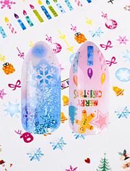 Недорогие -Стикер искусства ногтя Наклейки Портсигар 2-в-1 Аппликации Наклейка для переноса воды Стикер Инструменты сделай-сам макияж Косметические