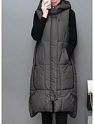 Dámské S vycpávkou Jednoduchý Běžné/Denní Jednobarevné-Kabát Bavlna Bez rukávů