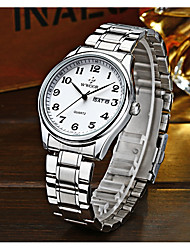 cheap -WWOOR Men's Quartz Wrist Watch Calendar / date / day Alloy Metal Band Casual Dress Watch Fashion Cool