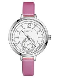 preiswerte -Damen Quartz Armbanduhr Chinesisch Großes Ziffernblatt PU Band Freizeit Mehrfarbig Elegant Schwarz Weiß Blau Rot Braun Rosa Lila Rose