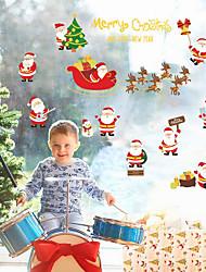 Недорогие -Рождество Наклейки Коробки для сувениров Декоративные наклейки на стены,Нетканая материал Украшение дома Наклейка на стену