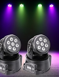 cheap -U'King 2pcs LED Stage Light / Spot Light DMX 512 Master-Slave Sound-Activated Auto 70 for Outdoor Party Stage Wedding Club Professional