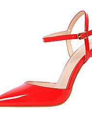 preiswerte -Damen Schuhe Lackleder Sommer Herbst Gladiator Pumps High Heels Spitze Zehe Für Kleid Party & Festivität Weiß Schwarz Silber Rot