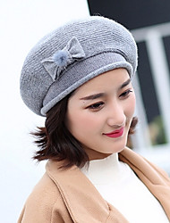 cheap -Women's Knitwear Bucket Hat,Vintage Cute Work Solid Winter