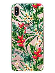 economico -Per iPhone X iPhone 8 iPhone 7 iPhone 7 Plus iPhone 6 Custodie cover Ultra sottile Fantasia/disegno Custodia posteriore Custodia Fiore