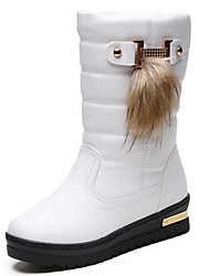 cheap -Women's Shoes Leatherette Rubber Winter Snow Boots Boots Mid-Calf Boots For Casual Brown Black White