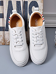 Women's Shoes Synthetic Leatherette All Season Comfort Sneakers Round Toe For Casual Black White