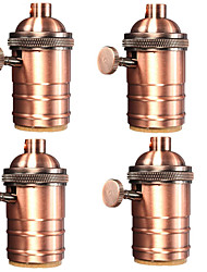 cheap -4 Pcs E26/ E27 Industrial Light Socket Vintage Edison Pendant lamp Metal holder With Knob switch