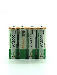 abordables -Batterie Ni-Mh aa 2500 1.2v 4 piles rechargeables