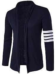 cheap -Men's Active Cardigan - Color Block Shirt Collar