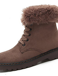 Women's Shoes PU Winter Comfort Boots For Sports & Outdoor Khaki Green Black