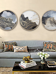 Abstract Fantasy Framed Canvas Framed Set Wall Art,PVC Material With Frame For Home Decoration Frame Art Living Room Kitchen Dining Room