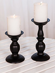 cheap -European-Style Iron Art Vintage Wedding Celebration Romantic Table Candlestick Candlelight Dinner