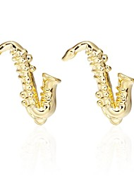 cheap -Musical Instruments Golden Cufflinks Brass Party/Evening Victoria Style Engagement Men's Costume Jewelry