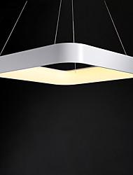 60 cm cuadrados 48 w simplicidad de estilo moderno led luces colgantes de metal salón dormitorio comedor luz
