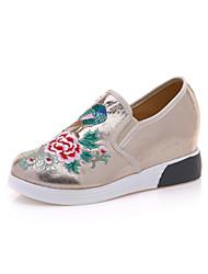 Femme Chaussures PU de microfibre synthétique Printemps Automne Confort Nouveauté Mocassins et Chaussons+D6148 Bout rond Pour Soirée &