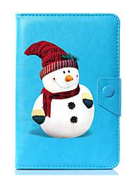 economico -Custodia universale per custodia in pelle di cartone animato pupazzo di neve per 7 pollici, 8 pollici, 9 pollici, tablet pc da 10 pollici