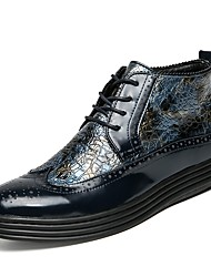 cheap -Men's Shoes Leatherette Spring Fall Novelty Boots Sequin For Casual Blue Yellow Black