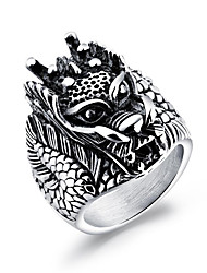 cheap -Men's Geometric Statement Ring - Rock, Hip-Hop 7 / 8 / 9 Silver For Carnival / Club