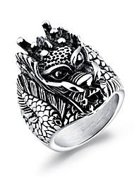 preiswerte -Herrn Statement-Ring - Geometrische Form Hip-Hop Rock Silber Ring Für Karnival Klub