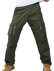 Masculino Simples Cintura Média Micro-Elástica Calças Chinos Calças,Calças Chinos Sólido