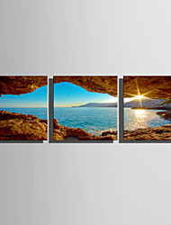 cheap -Stretched Canvas Print Abstract Landscape Set of 3 1301-0174