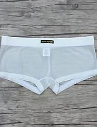 boxers masculinos de poliéster / spandex respiráveis confortáveis e macios sexy