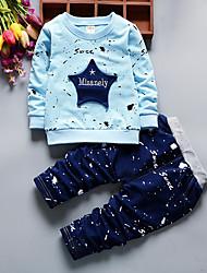 abordables -Ensemble de Vêtements Garçon Géométrique Coton Toutes les Saisons Manches Longues Décontracté Actif Bleu Rouge Jaune