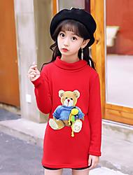 cheap -Girls' printing Blouse,Cotton Winter Long Sleeves Cartoon Black Red Lavender