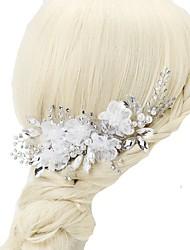 cheap -Chiffon Crystal Imitation Pearl Rhinestone Alloy Hair Combs 1pc Wedding Special Occasion Headpiece