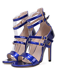 cheap -Women's Shoes PU All Season Comfort Novelty Sandals Open Toe Buckle For Wedding Party & Evening Blue Black