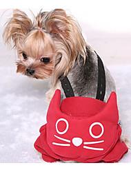 abordables -Perro Pantalones Ropa para Perro Algodón Invierno Primavera/Otoño Casual/Diario Sólido Gris Rojo Disfraz Para mascotas