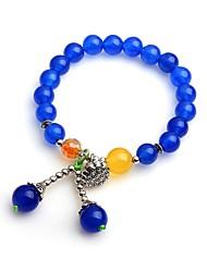 cheap -Women's Onyx Strand Bracelet - Asian Ethnic Circle Blue Bracelet For Date