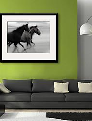 cheap -Framed Canvas Framed Set Landscape Animals Wall Art, PVC Material With Frame Home Decoration Frame Art Living Room Bedroom Kitchen Dining