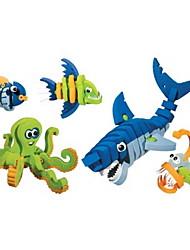 cheap -Building Blocks 5pcs Dinosaur Fish Shark Animal DIY Outfits Mix & Match Sets Animals Toy Gift