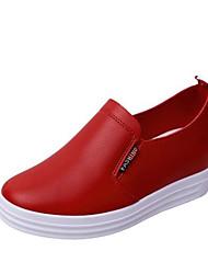 женская обувь pu резиновые весна лето комфорт кроссовки для случайных красный черный белый