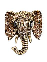 cheap -Women's Brooches - Rhinestone Elephant Simple, Vintage Brooch Gold / Silver For Casual / Going out