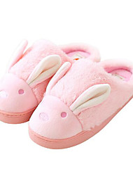 Women's Shoes Polyamide fabric Cotton Fall Winter Comfort Slippers & Flip-Flops For Casual Pink Blue Coffee Purple Gray