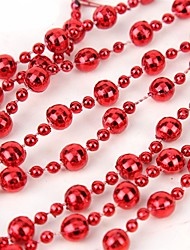 cheap -Christmas Decorations Christmas Gifts Christmas Party Supplies Toys Sphere Holiday Metal / Plating / Dry flower Santa Suit Beads