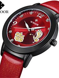 levne -WWOOR Dámské Náramkové hodinky Hodinky k šatům Módní hodinky Hodinky na běžné nošení Křemenný Žhavá sleva Pravá kůže Kapela Na běžné