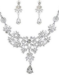 cheap -Women's Jewelry Set - Imitation Diamond Classic, Fashion Include Drop Earrings / Necklace Silver For Engagement / Ceremony