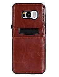 economico -Custodia Per Samsung Galaxy S8 Plus S8 S7 edge S7 Porta-carte di credito Resistente agli urti Ultra sottile Custodia posteriore Tinta